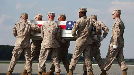 The remains of U.S. Marine Lance Cpl. Gregory