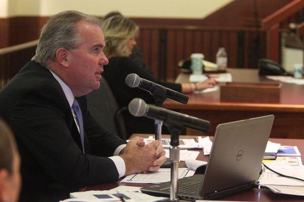 Acting Nassau Police Commissioner Thomas Krumpter offers testimony