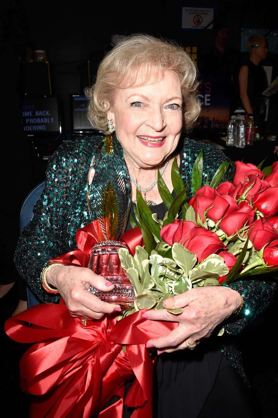 Actress Betty White attends the The 41st Annual