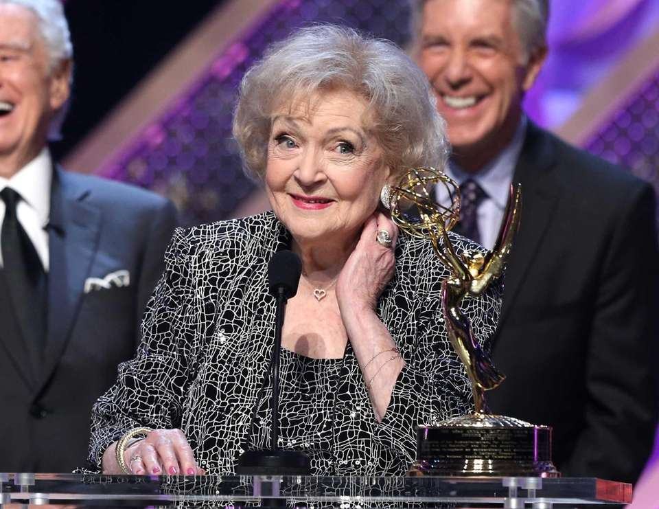 Actress Betty White accepts the Daytime Emmy lifetime
