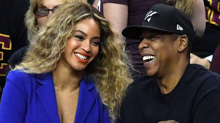 Beyonce and Jay Z attend Game 6 of