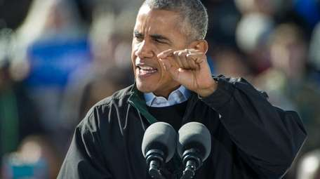 President Barack Obama speaks at a campaign rally