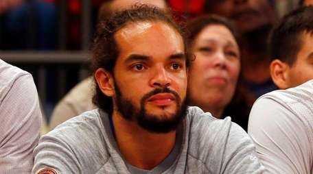 Joakim Noah of the New York Knicks looks