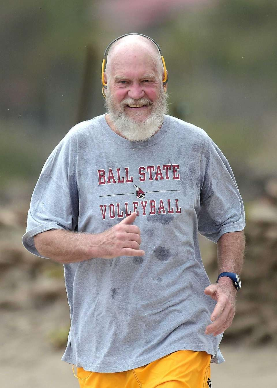 David Letterman during a morning workout on St.