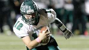 Lindenhurst's Austin Perri (12) runs the ball in