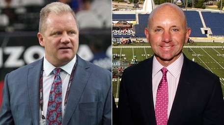 Sean McDonough, right, will be calling a football