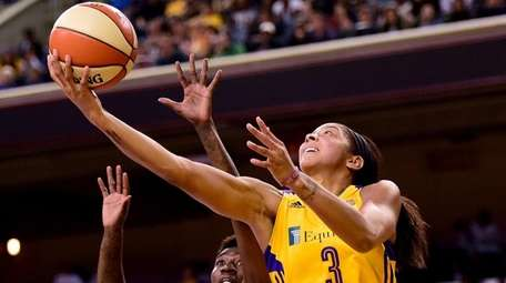 Forward Candace Parker of the Los Angeles Sparks