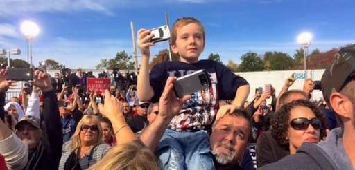 Supporters of Donald Trump at a rally in