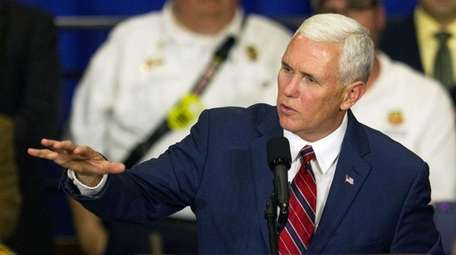 Republican vice presidential candidate Indiana Gov. Mike Pence