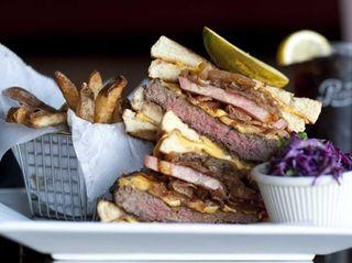 Grilled cheese cheeseburger at Brixx and Barley in