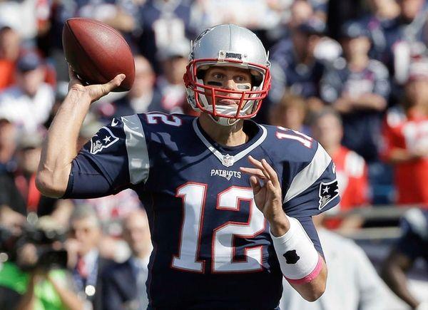 New England Patriots quarterback Tom Brady passes against