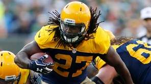 Green Bay Packers' Eddie Lacy runs during the