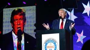 Donald Trump speaks at the Republican Hindu Coalition's