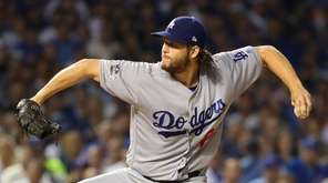 Clayton Kershaw of the Los Angeles Dodgers throws