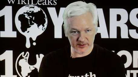 In this Oct. 4, 2016 file photo, WikiLeaks