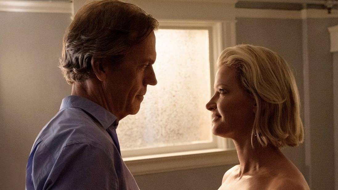 Hugh Laurie and Gretchen Mol in