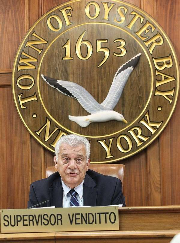 Town Supervisor John Venditto on Aug. 9, 2016,