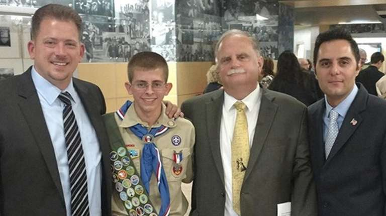 Eagle Scout Andrew Martin, a senior at Walt