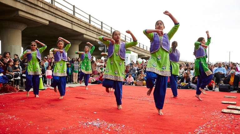 The Aria dance company performs Bollywood dancing during