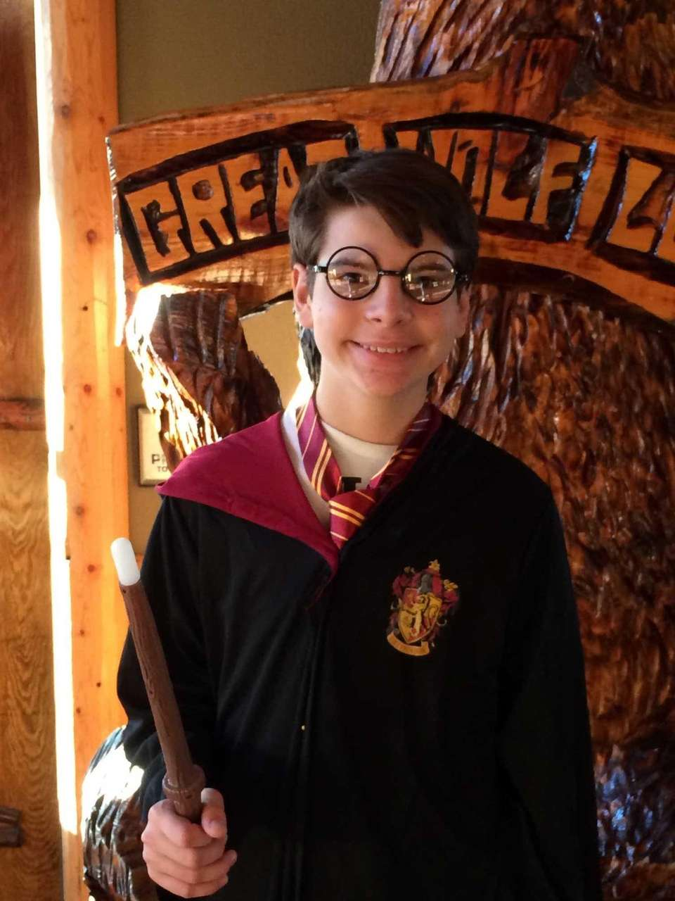 My son dressed as Harry Potter for the