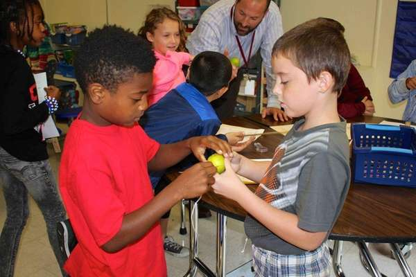 Third-graders at Landing Elementary School in Glen Cove