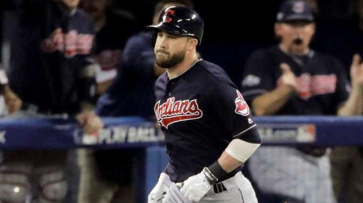 Cleveland Indians' Jason Kipnis rounds the bases after