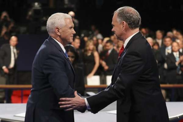Republican vice presidential nominee Mike Pence and Democratic