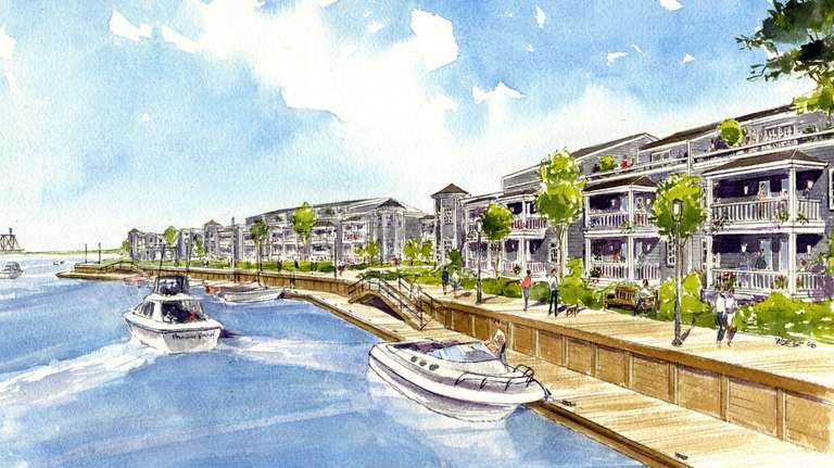 An undated artist's rendering of the proposed waterfront
