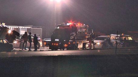 Investigators are seeking a driver who hit three