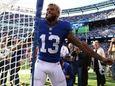 Odell Beckham of the New York Giants kneels