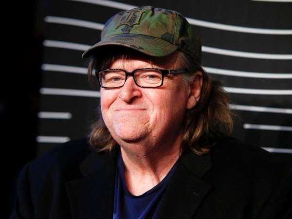 Michael Moore attends the 20th annual Webby Awards