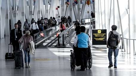 At terminal 5 the moving walkways in the