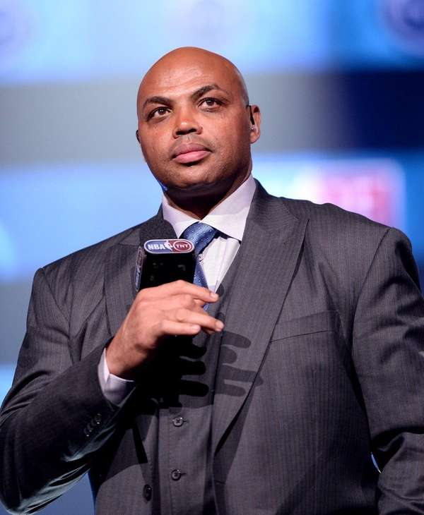 Former basketball player Charles Barkley speaks onstage as