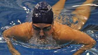 Georgeanne Zimmerman of Bellmore-Merrick swims to victory in