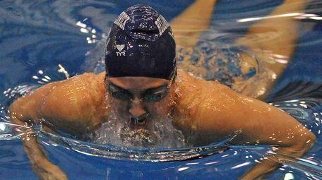 Georgeanne Zimmerman of Bellmore-Merrick swims to victory in