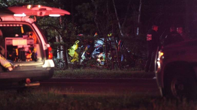 Southampton Town police said two people were killed
