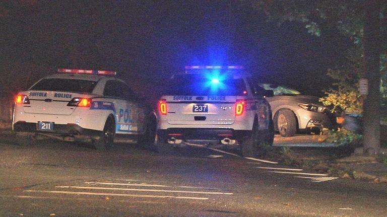 Suffolk County police investigate a fatal one-car crash