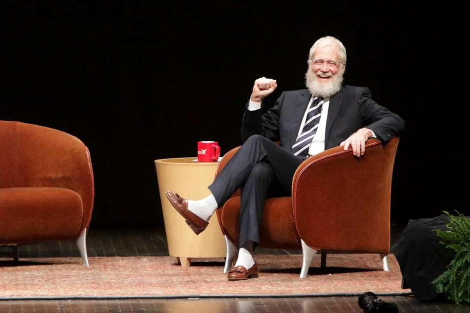 David Letterman speaks at Ball State University in