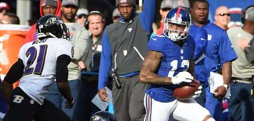 New York Giants wide receiver Odell Beckham carries