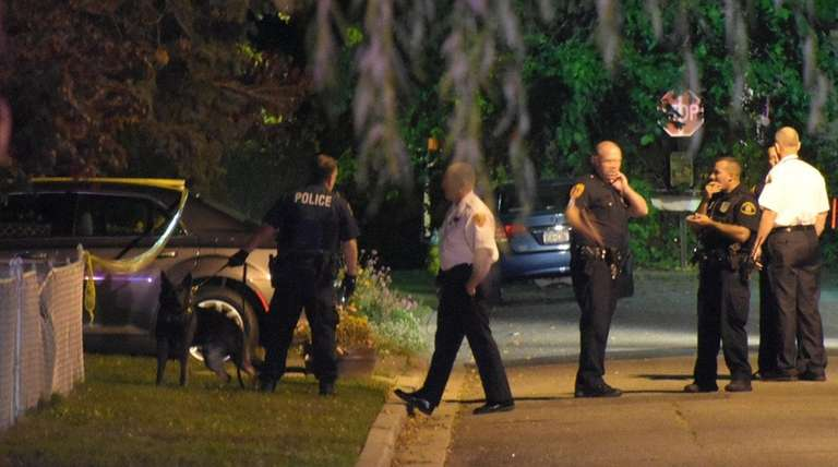 Suffolk County police respond to Benjamin Avenue in