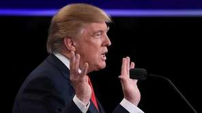 Republican nominee Donald Trump speaks during the final