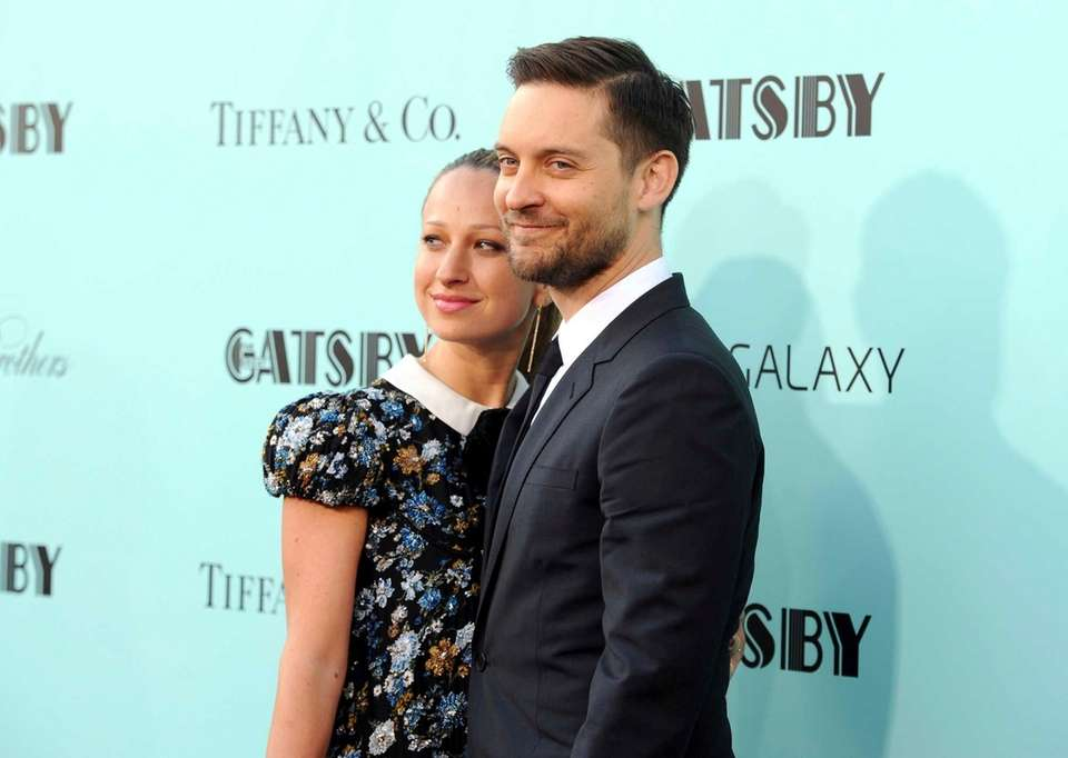 Actor Tobey Maguire and jewelry designer Jennifer Meyer