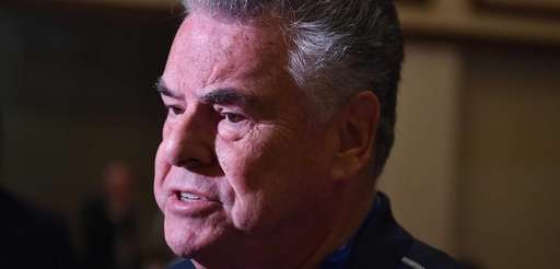 Congressman Peter King, pictured in July 2016, reacted