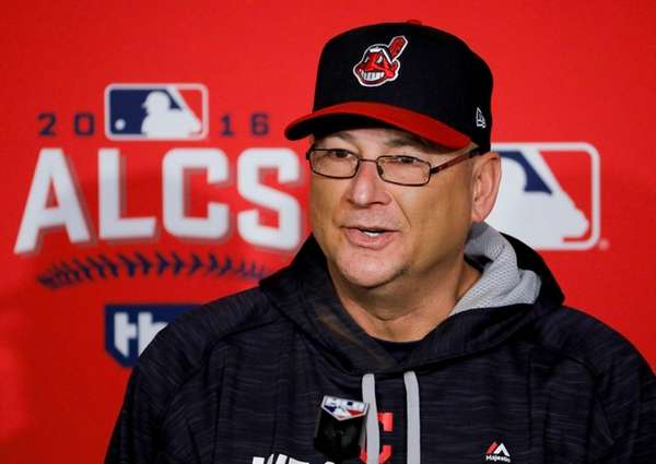 Cleveland Indians manager Terry Francona speaks during a