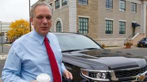 Nassau County Executive Edward Mangano returns to work