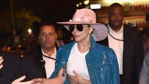 Lady Gaga surprises fans while on the Bud
