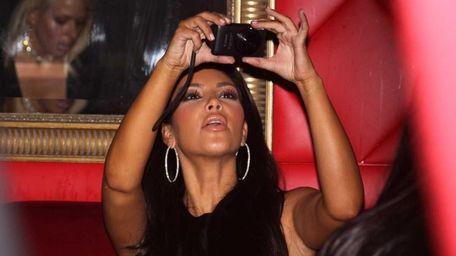 Kim Kardashian at Glo Nightclub in Westbury.