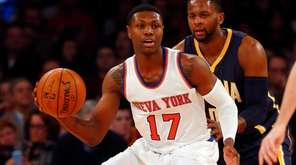 Cleanthony Early of the New York Knicks controls