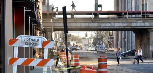 Road repair and reconstruction on N. Park Ave.