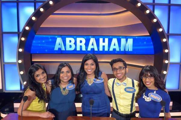 Long Island resident Jamie Varghese, second from left,
